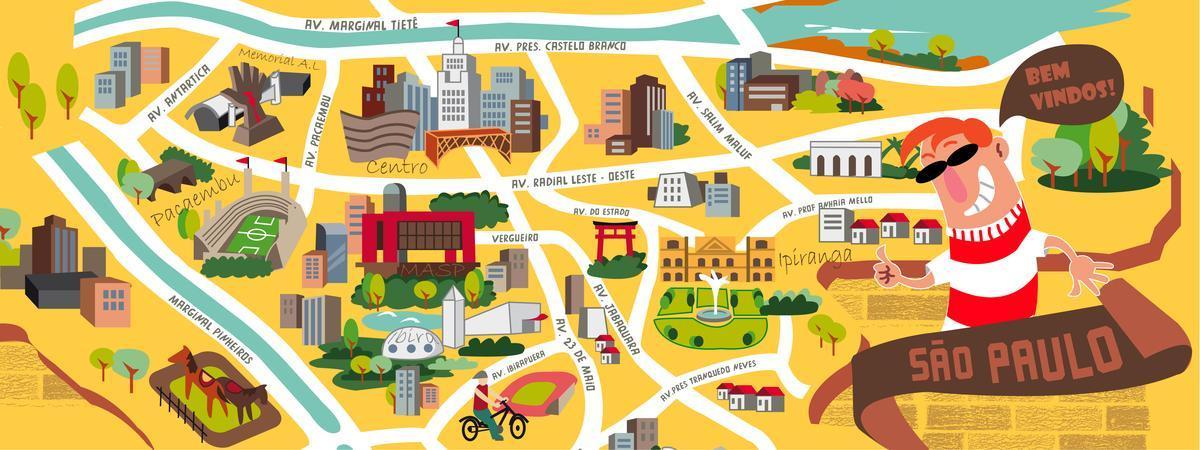 Sao Paulo Design Kort Kort Over Sao Paulo Design Brasilien